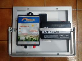 Eletrificador Solar Cerca Elétrica Rural 60km Com Bateria..