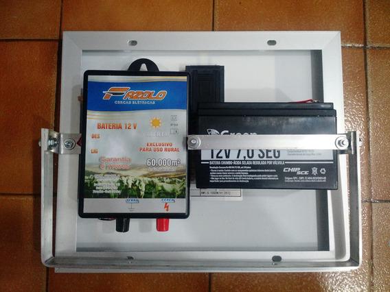 Eletrificador De Cerca Solar Elétrica 60km Com Bateria