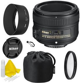 Nikon Af-s Nikkor 50mm F / 1.8g Lente Kit Celltime