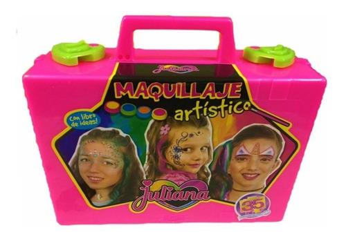 Imagen 1 de 2 de Juguete Valija Juliana Maquillaje Artistico Chica Ma203 Full
