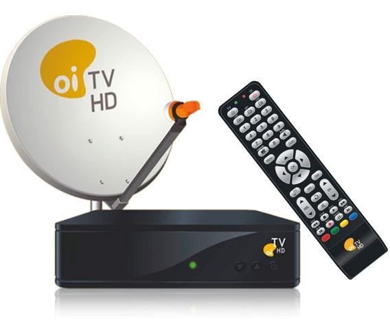 Kit Oi Tv Livre Em Hd Antena + Receptor + Bônus Globo E Sbt