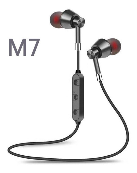 Cinza M7 Sportless Bluetooth Headset Fone De Ouvido 4.1 Head