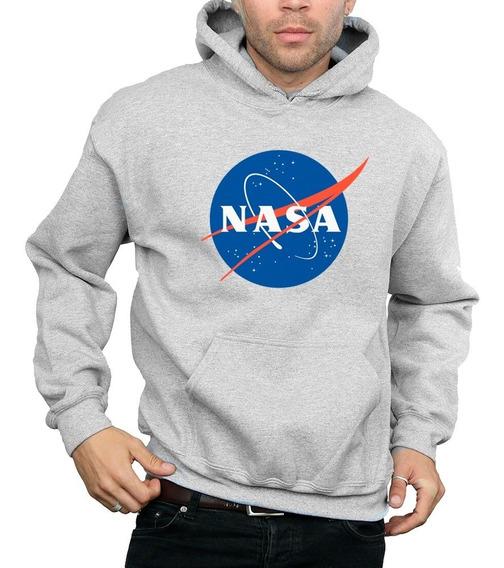 Sweater Nasa Sueter Con Capucha Estampado Dama Y Caballero