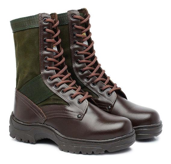 Coturno Militar Pqd Ccl Especial Couro Kallucci 1006