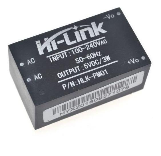 Mini Fonte Hi-link Hlk-pm01 Conversor Dc 100~240vac 5v 3w