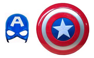 Escudo Capitan America Y Mascara Con Luz