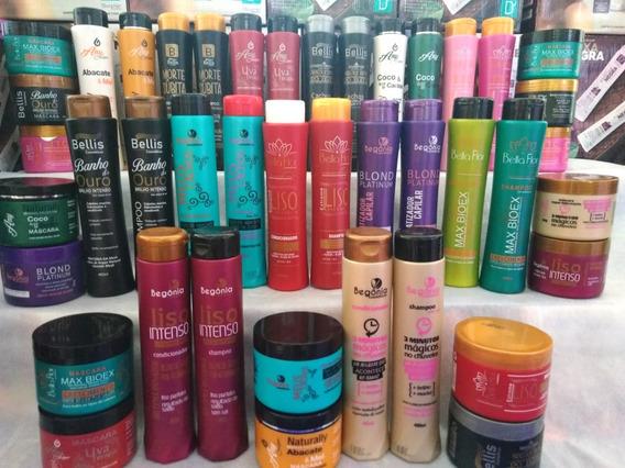 Shampoo + Condicionador + Máscara = 63 Produtos Atacado