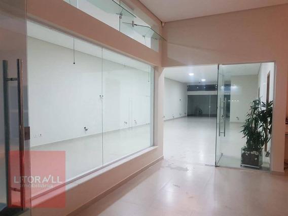 Salão Para Alugar, 174 M² Por R$ 5.000,00/mês - Jardim Barra De Jangada - Peruíbe/sp - Sl0018