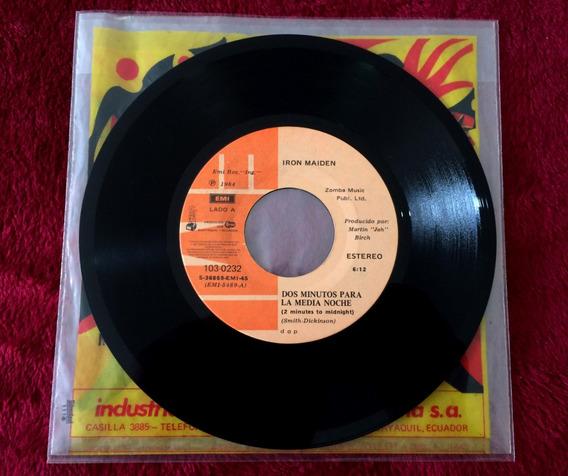 Iron Maiden Ecuador 7 2 Minutes To Midnight 1984 Mega Raro