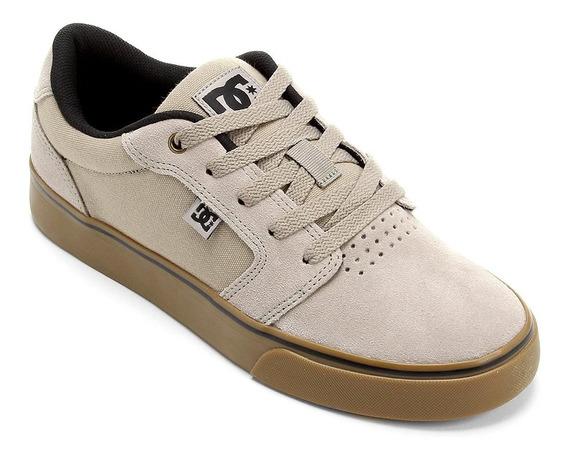 Tênis Dc Shoes Anvil La Grey/gum Original Frete Gratis