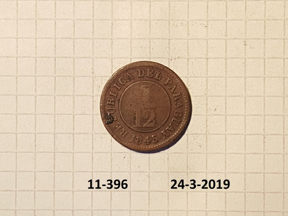 Paraguay 1/12 Real 1845 Ver Variante