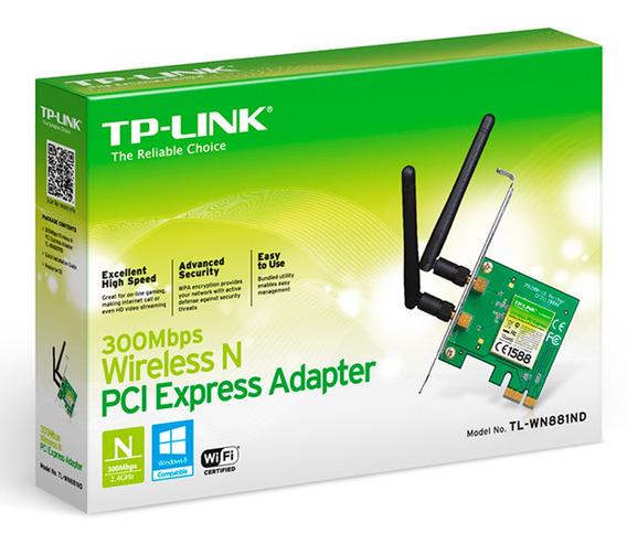 Tarjeta Pci Express Wi-fi 300mbps Tp-link Tl-wn881nd