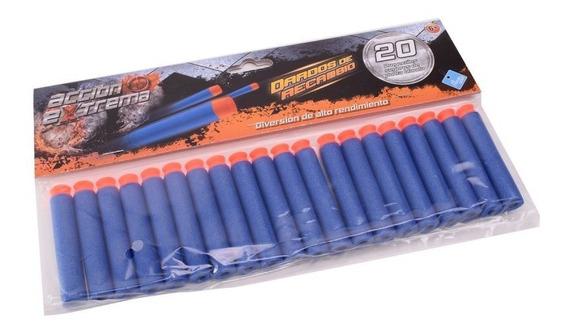 Proyectiles Dardos X 20 Accion Extrema Compatible Con Nerf