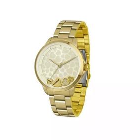 Relógio Lince Lrg4571l C1kx Analógico Dourado Original
