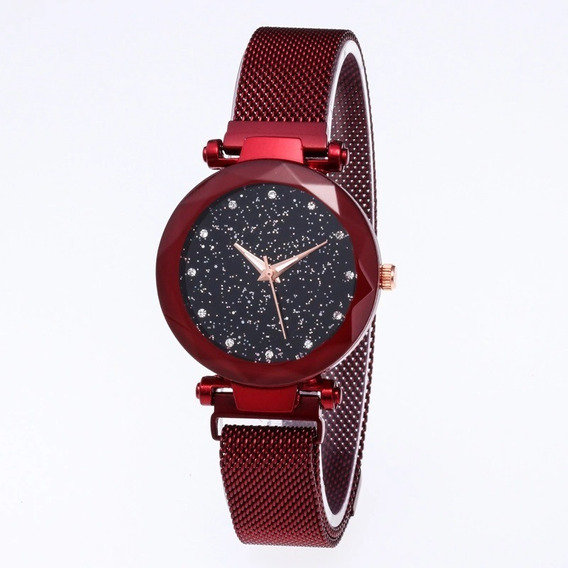 Relógio Céu Estrelado Pulseira Magnética + Caixa.