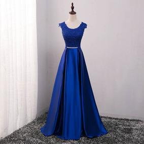 5d9ad9d86 Vestido Dourado Pedrarias - Vestidos Femininas Azul no Mercado Livre ...