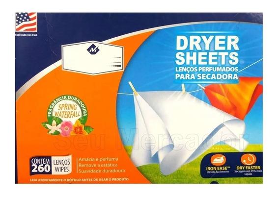 Lenços Perfumados P/ Secadora C/ 260 Unidades Dryer Sheets