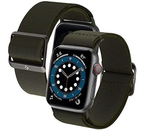 Imagen 1 de 6 de Malla Spigen Litefit Apple Watch 40m 6/se/5/4 38m3/2/1 Verde