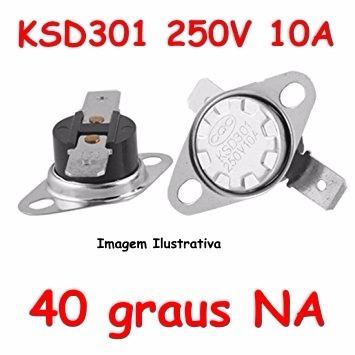 Termostato Ksd301 40 Graus Normal Aberto Potência Rádio