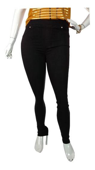 Calça Jeans Plus Size Feminina Cós Alto Legging Cambos Show