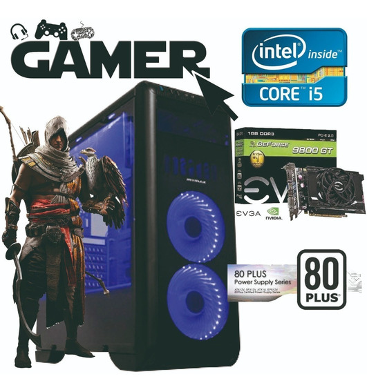 Pc Gamer Cpu Intel Corei5 4geração 8gb Ram+hd 500 Gb +9800gt