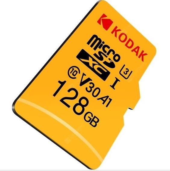 Cartão De Memória Kodak Microsdxc U3 V30 A1 128gb | Vídeo 4k