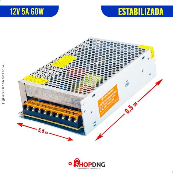 Kit 5 Fonte Chaveada 12v 5a 60w Estabilizada Bivolt C Frete