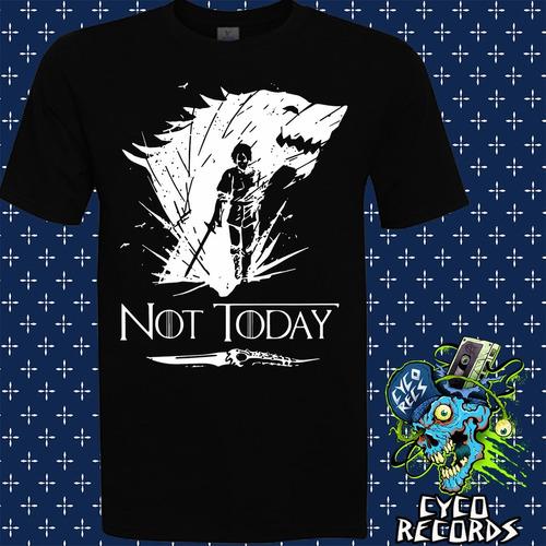 Imagen 1 de 3 de Game Of Thrones - Not Today 2 - Peliculas De Culto - Polera-