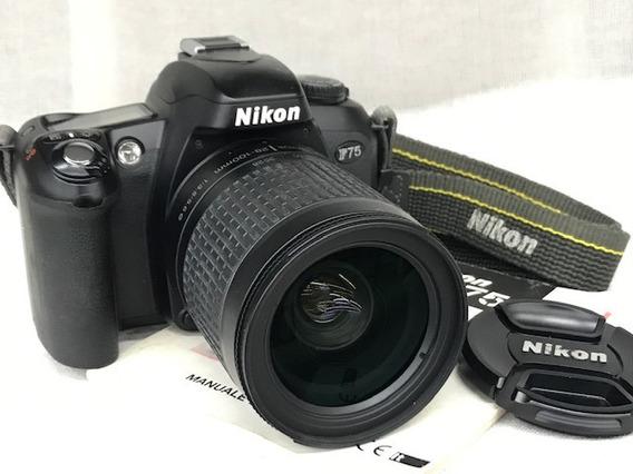 Câmera Nikon F 75 C/lente 28~100mm(analógica).