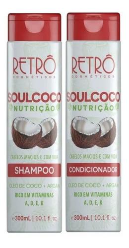 Retrô Cosméticos Soul Coco Shampoo + Condicionador 2x300ml