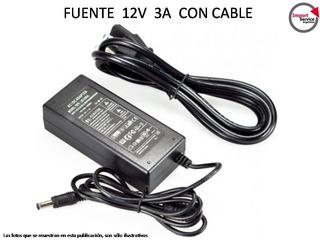 Fuente 12v 3 A Con Cable