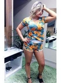 Roupas Femininas Conjunto Choker Blusa Choker + Shorts Top