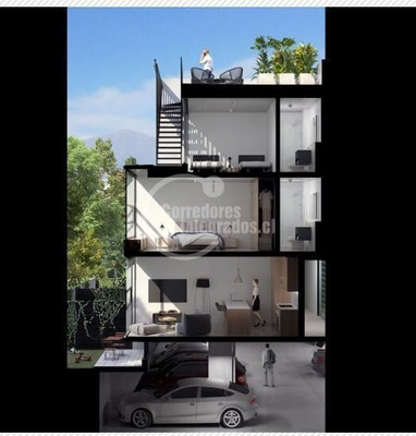 Casa En Arriendo De 2 Dormitorios En Providencia
