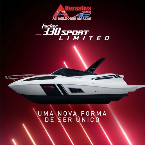 Lancha Fib Focker 330 Sport Limited Zera Pronta Para Navegar