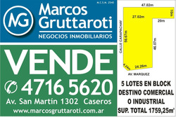 Lote Zona Comercio E Industria Sobre Av Marquez P.podesta