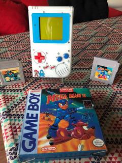 Consola Gameboy Classic Megaman + 2 Juegos De Colección Nt