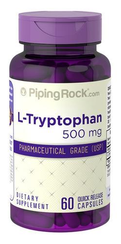 L-triptofano 500 Mg 60 Cápsulas Piping Rock Triptofano Eua