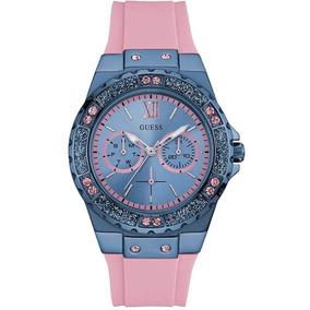 Relógio Feminino Guess Analógico 92601lpgseu4 Borracha Rosa