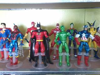 Figuras De Super Heroes De Calidad Miden 20 Cm.. Varios Figu