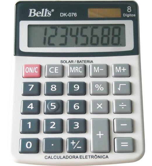 Kit 06 Calculadoras De Mesa Bells Dk-076 8 Dígitos - Atacado