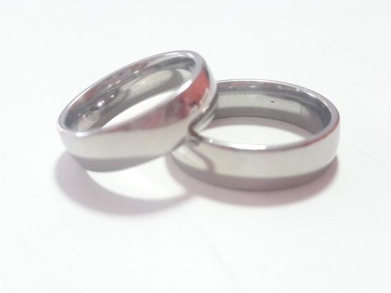 Aliança De Namoro Compromisso Larga Aço Inox Kit 6 Pares