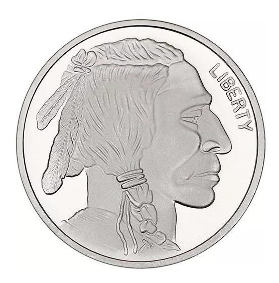 Linda Moeda De Prata Impecável 1oz Buffalo - 99.9% Prata