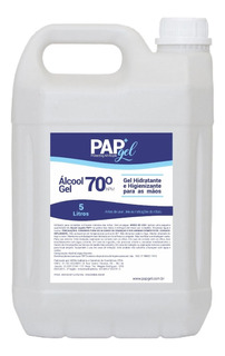 Pap Alcool Gel 70% Antisséptico- Bombona 5 Litros 5l