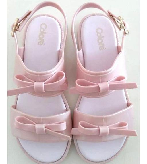 Sandália Colore Rosa Pimpolho Menina Infatil - 014675