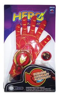 Guante Lanza Tazos Simil Iron Man Rojo Nuevo 01307 Bigshop