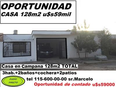 Casa En Campana 128m2 U$s59mil (((( Oportunidad))))))
