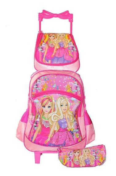 Mochila De Rodinha Feminina Princesas Escolar Infantil