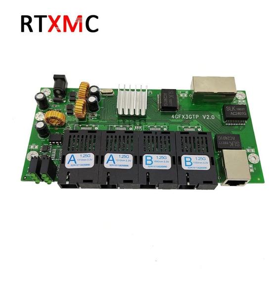 Placa Switch Rede Metro Gigabit 3 Portas Rj45 + 4 Sc (2a+2b)
