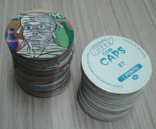 Lote Com 7 Tazos Da Coleção Buzzy Caps