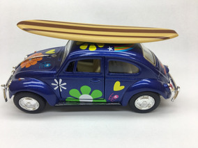 Miniatura Fusca Com Prancha 1967 Azul
